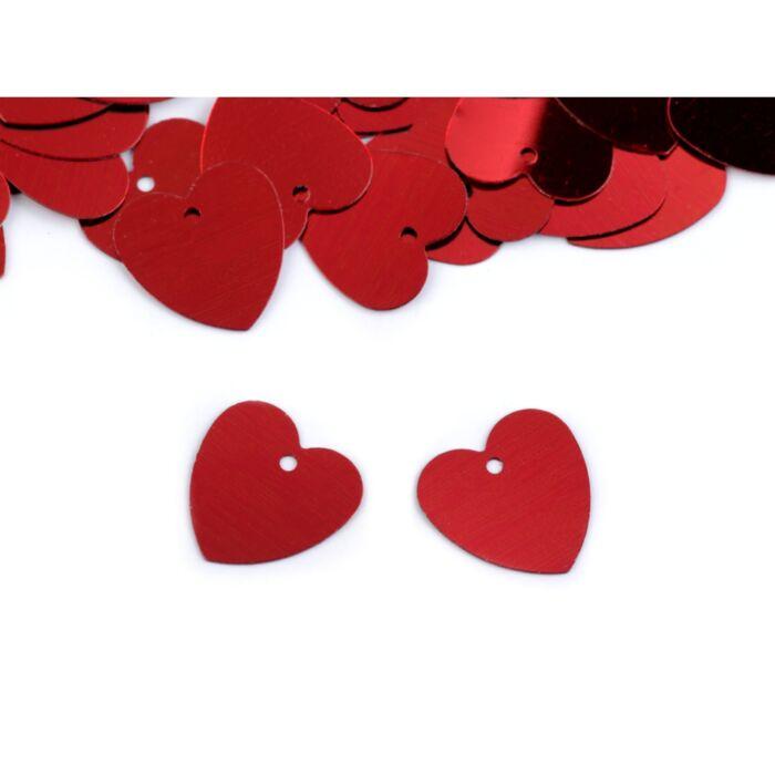Szív alakú flitterek 13x13 mm
