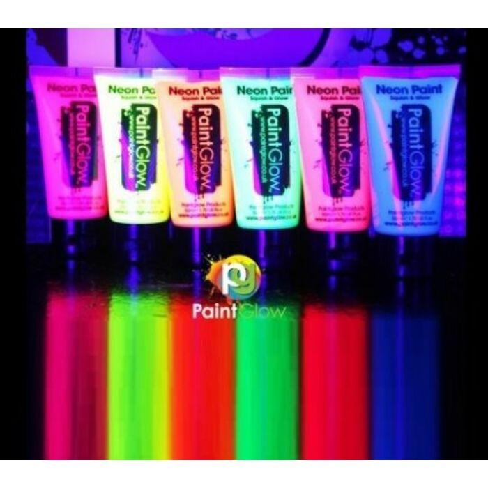 PaintGlow neon színű UV fényre aktív erősen világító testfesték 50 ml