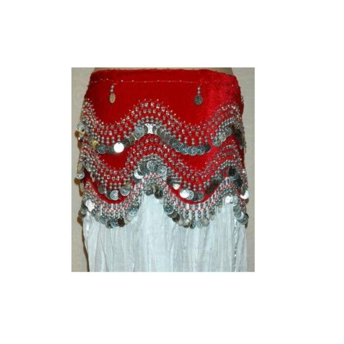 Gazdagon díszített hastánc rázókendő