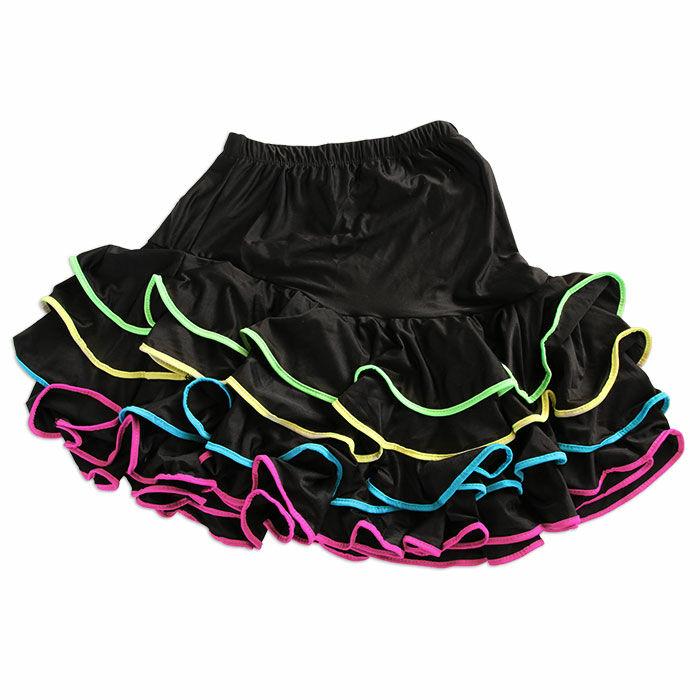 Kislány gyakorló szoknya színes széllel